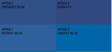 Đây là màu sơn mà Everest hiện có màu AP159-1 là màu gần giống với màu Classic Blue - màu xanh cổ điển nhất.