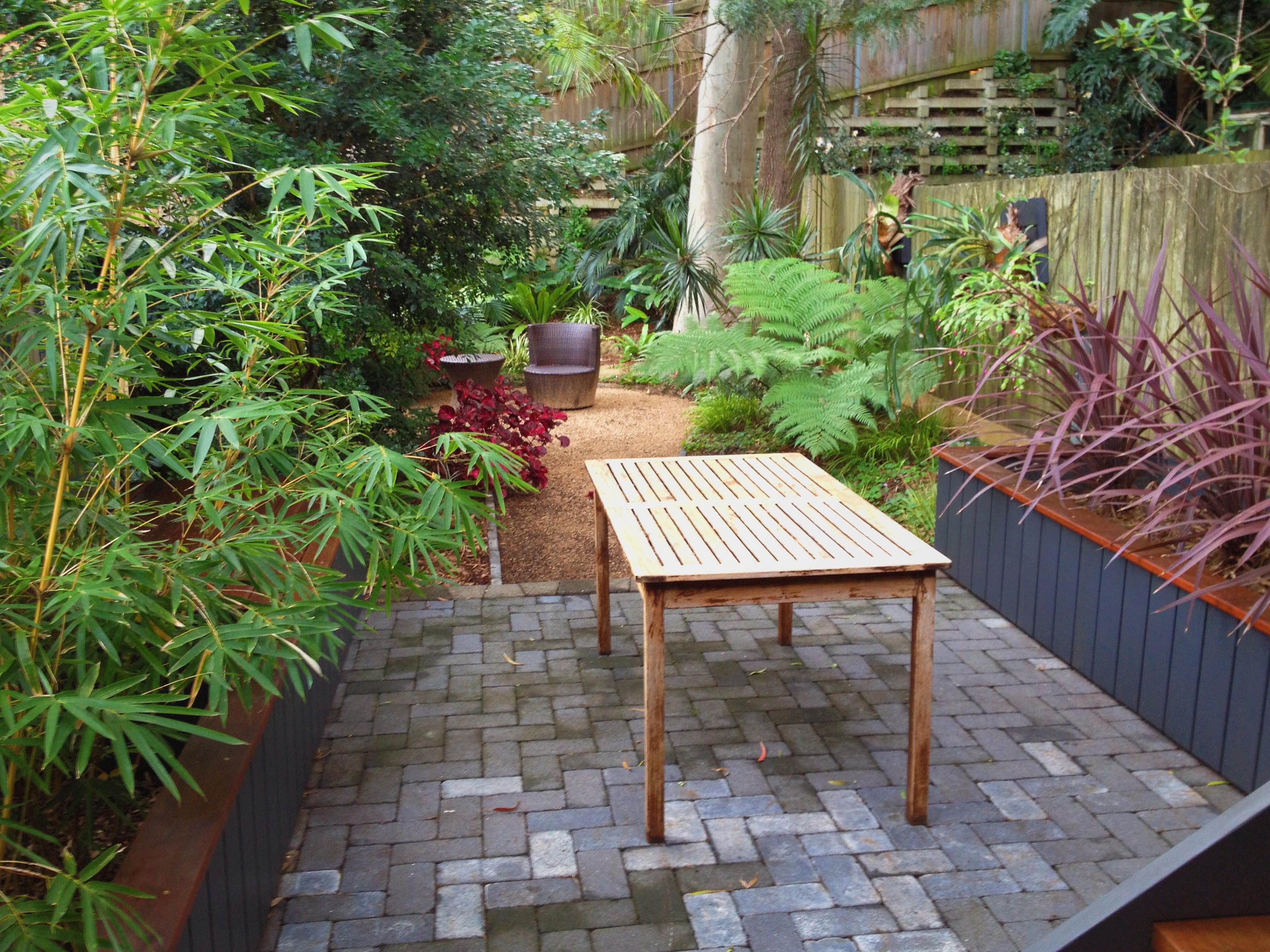 Backyard Paving & Planters