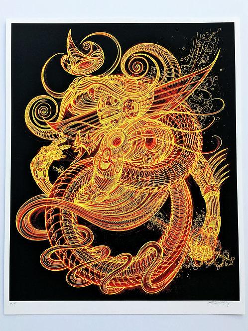 the dragon king fine art print