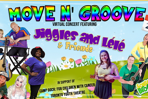 Jiggles and Lélé Move N' Groove Concert for Camp OOCH