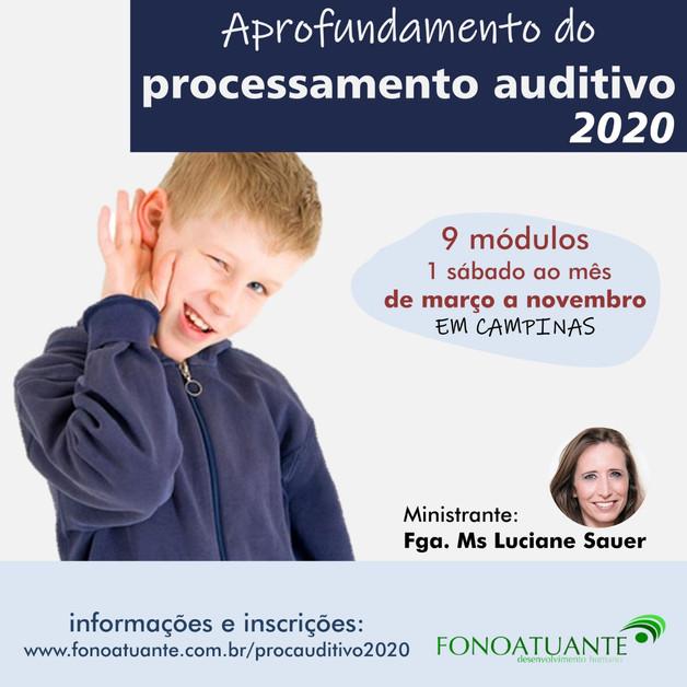 Processamento auditivo 2020
