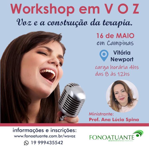 Workshop Voz e construção da terapia