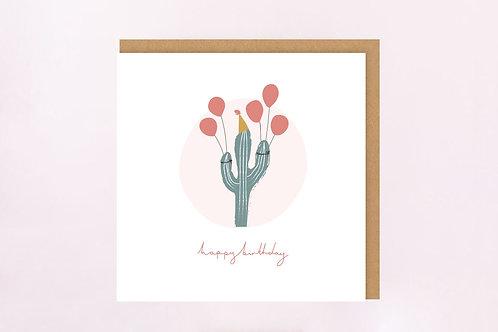 Party Cactus Birthday Card