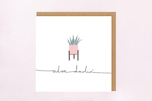 Aloe Darlin' Card