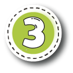 Number 3 green button.png