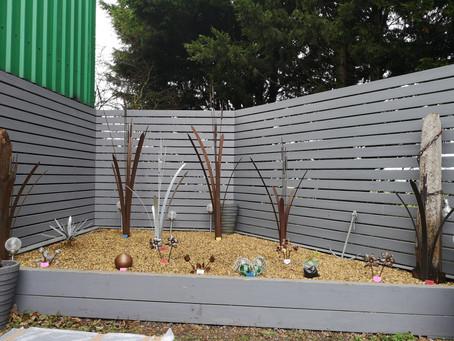 Metal flowers for the garden