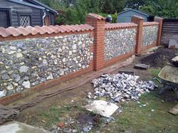 Double sided flint wall