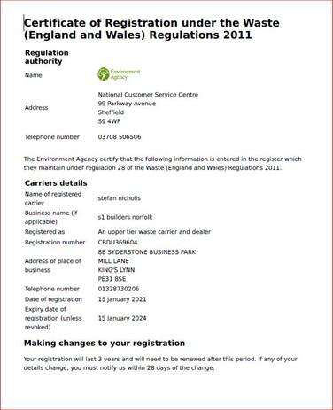 waste licence