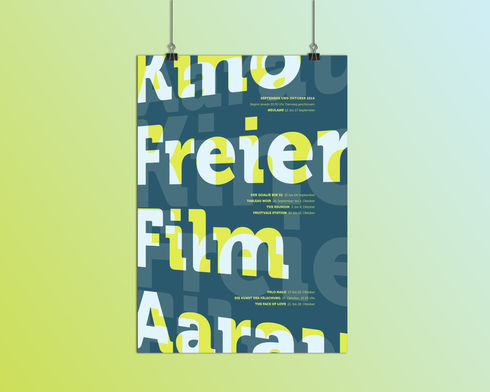 Plakat «Kino Freier Film Aarau»