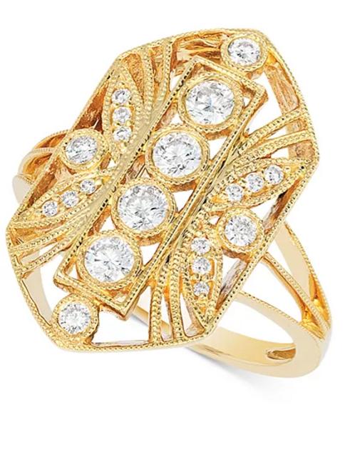 Vintage Diamond Engagement Ring 14K Gold