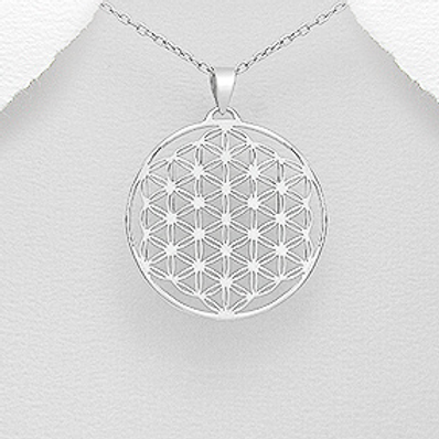Flower of Life Pendant Necklace Sterling Silver