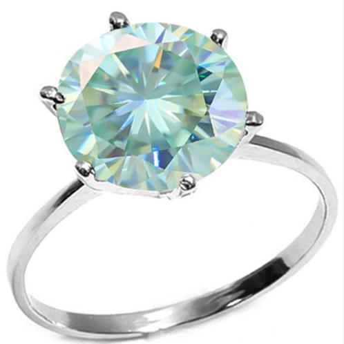 Ring, 2CT Blue Diamond Solitaire 14K WG