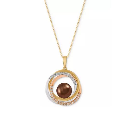 Le Vian Cultured Tahitian Brown Pearl Pendant Necklace 14K