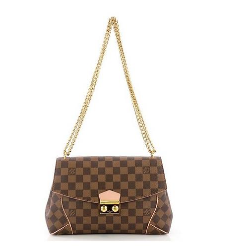 Louis Vuitton Caissa Clutch Chain Ballerine Brown Leather Shoulder Bag