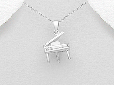Piano Musical Instrumental Pendant Necklace
