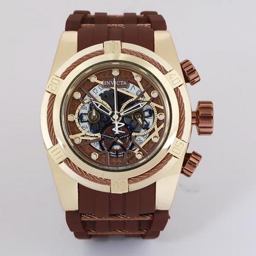 3D Invicta Wood 52mm Chronograph Watch