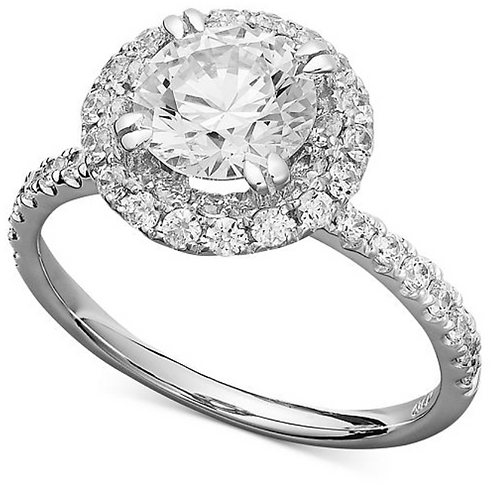 14Kt Halo Engagement Ring