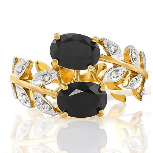 Ring, Black Diamond 2 (c.t.t.w.) 10k