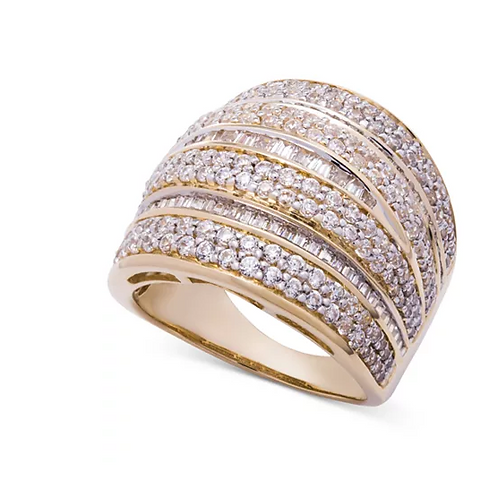Wrapped in Love Diamond(2 C.T.T.W.) Dome Ring 14K Gold