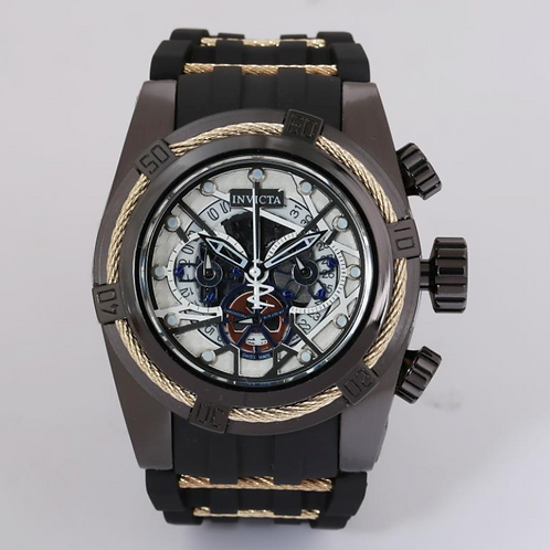 3D Invicta 52mm Brown Watch with Gold Detail