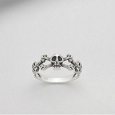 Skull Ring 925 Sterling Silver