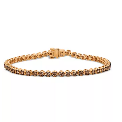 Le Vian Chocolatier Diamond (3 C.T.T.W.) Tennis Bracelet 14K Rose Gold