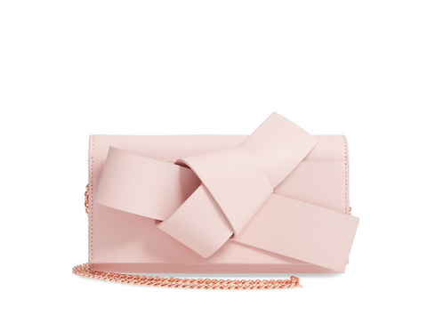 Ted Baker London Knot Detail Wallet with Chain -Light Pink