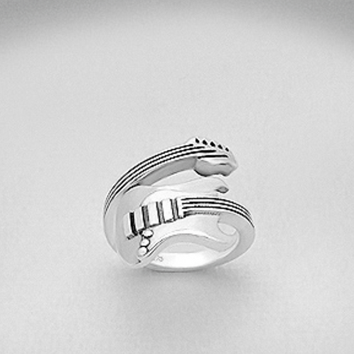 Wrap Around Guitar Ring 925 Sterling Silver