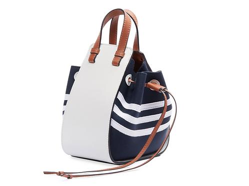 Loewe Hammock DW Sailor Shoulder Bag Navy and White