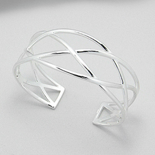 Twisted Links Cuff 925 Sterling Silver