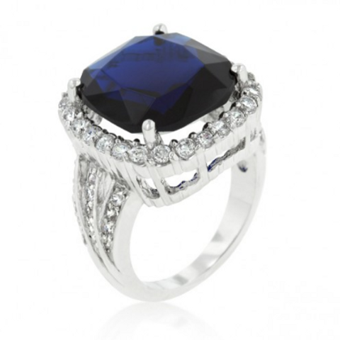 21.3 Carat Sapphire Cocktail Ring Sterling Silver