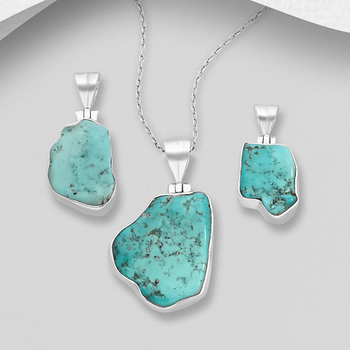 Handmade Sleeping Beauty Turquoise 925 Sterling Silver