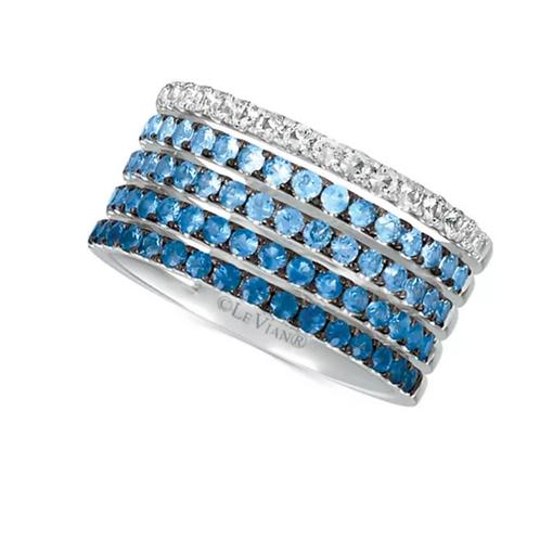 Le Vian Blueberry Layer Cake Ring 14K White Gold