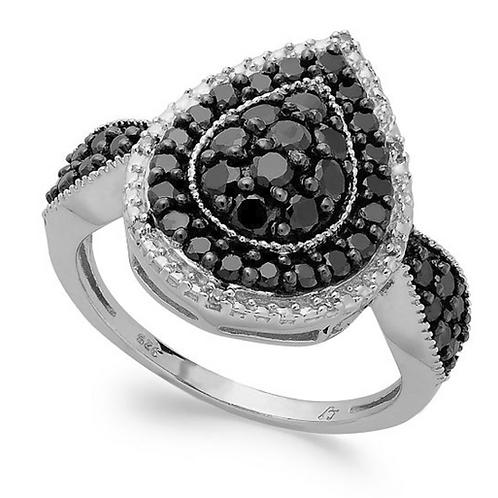 Engagement Ring, Black Diamonds