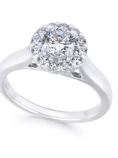 X3 Diamond (1 c.t.t.w.) Engagement Ring 18K White Gold