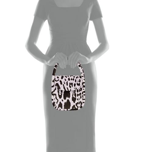 Hayward Lucy Top Handle Bag in Leopard Brocade