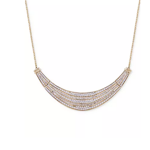 Wrapped in Love Diamond (2 C.T.T.W.) Dome Necklace 14K Gold