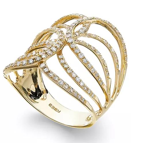 D'Oro by Effy Diamond (1/2 C.T.T.W.) Swirl Statement Ring 14K Yellow Gold