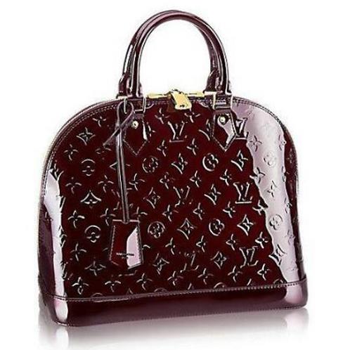 Louis Vuitton Alma PM Monogram Vernis Leather in Amarante Color