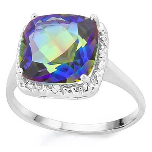 Ring, 4 1/3 (c.t.t.w.) Ocean Mystic and Diamond