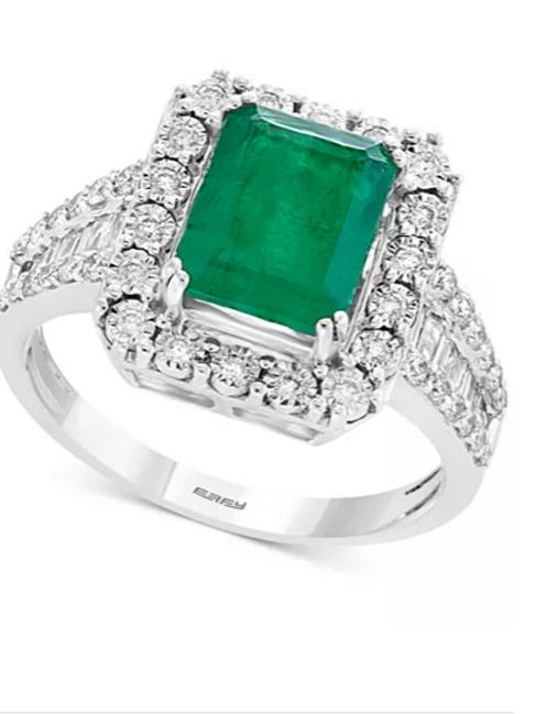 Brasillica by EFFY Emerald( 2-1/5cttw) and Diamond (1 cttw)Ring 14K WG