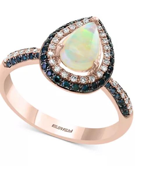 EFFY Opal with Blue & White Diamonds 14K Rose Gold