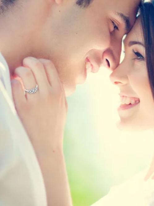 Engagement Ring, 3 Stone White Sapphire