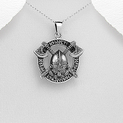 Viking Amulet Pendant Necklace 925 Sterling Silver