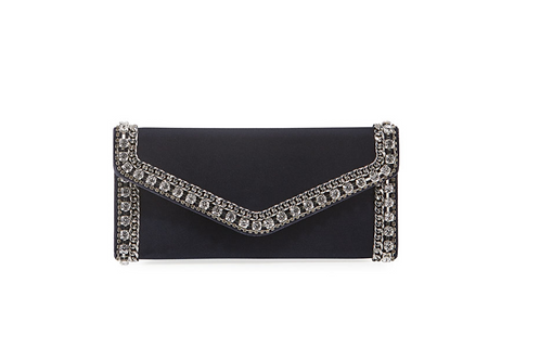 Judith Leiber Couture Envelope Clutch Bag in Black