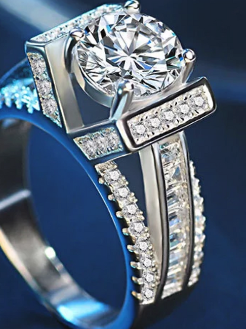 Engagement Ring, White Sapphire 5+ (c.t.t.w.)