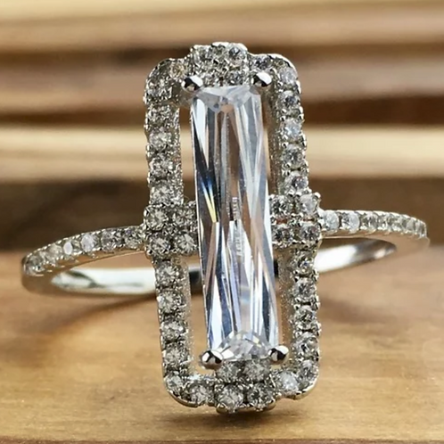 Engagement Ring, 2.5 c.t.w White Sapphire