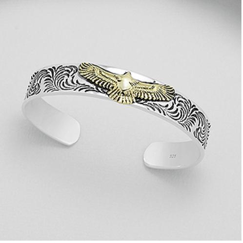 Eagle Cuff Bracelet Sterling Silver