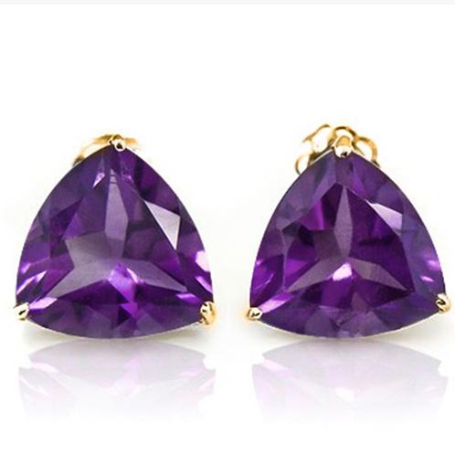 Earrings, Amethyst 4CT 1oK YG