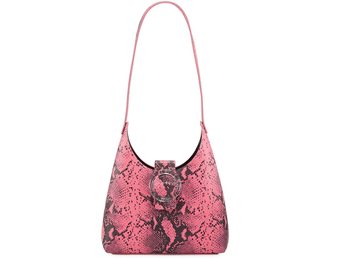 IMAGO-A Exclusive Cranberry Lucite Bucket Handbag